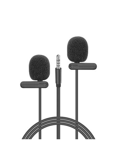 Snopy Sn-M60 Siyah 2 Mikrofonlu Akıllı Telefon Ve Youtuber Yaka Mikrofonu Renkli